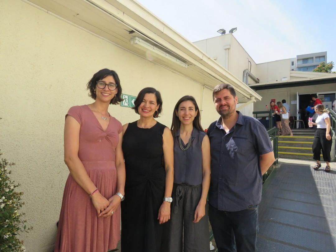 Los expositores Daniela Aldoney, Natasha Cabrera, Francisca Perez y Francisco Aguayo